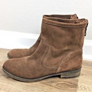Booties Size 7 M Boots Brown Leather Suede Upper